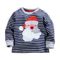 2015 New Products Christmas New Fashion Children Cotton Striped T-shirts
