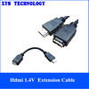 Gold Plated High Quality hdmi 1.4V extension cable