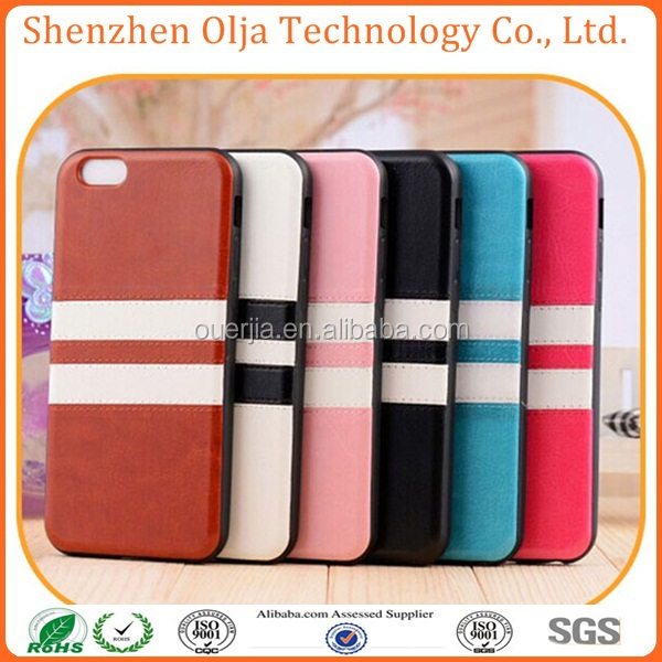 Olja Hot Double Color Leather TPU for iphone6 case , for iphone 6 plus case, for iphone case