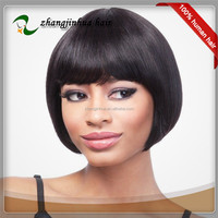 free dhl! straight hair bob style short indian virgin hair lace wig