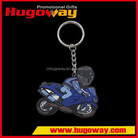 Triangle Embossed Logo Rubber Motorcycles Keyring