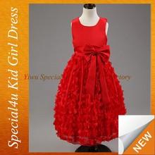 Kids new beauty wedding new model short casual dresses SPXC-152