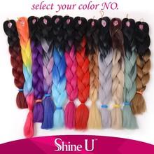 Cheap hair synthetic braiding hair ombre color jumbo braid make you shine like star
