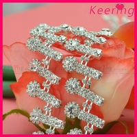 Wholesale rhinestone jewelry empty cup chains for bridal decoration WRC-228