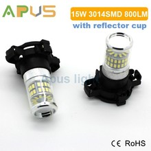 2 years warranty 800LM Epistar 3014SMD PY24W fog led light bulbs for car