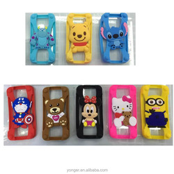alibaba wholesale 3d cartoon universal silicone bumper case for cellphone