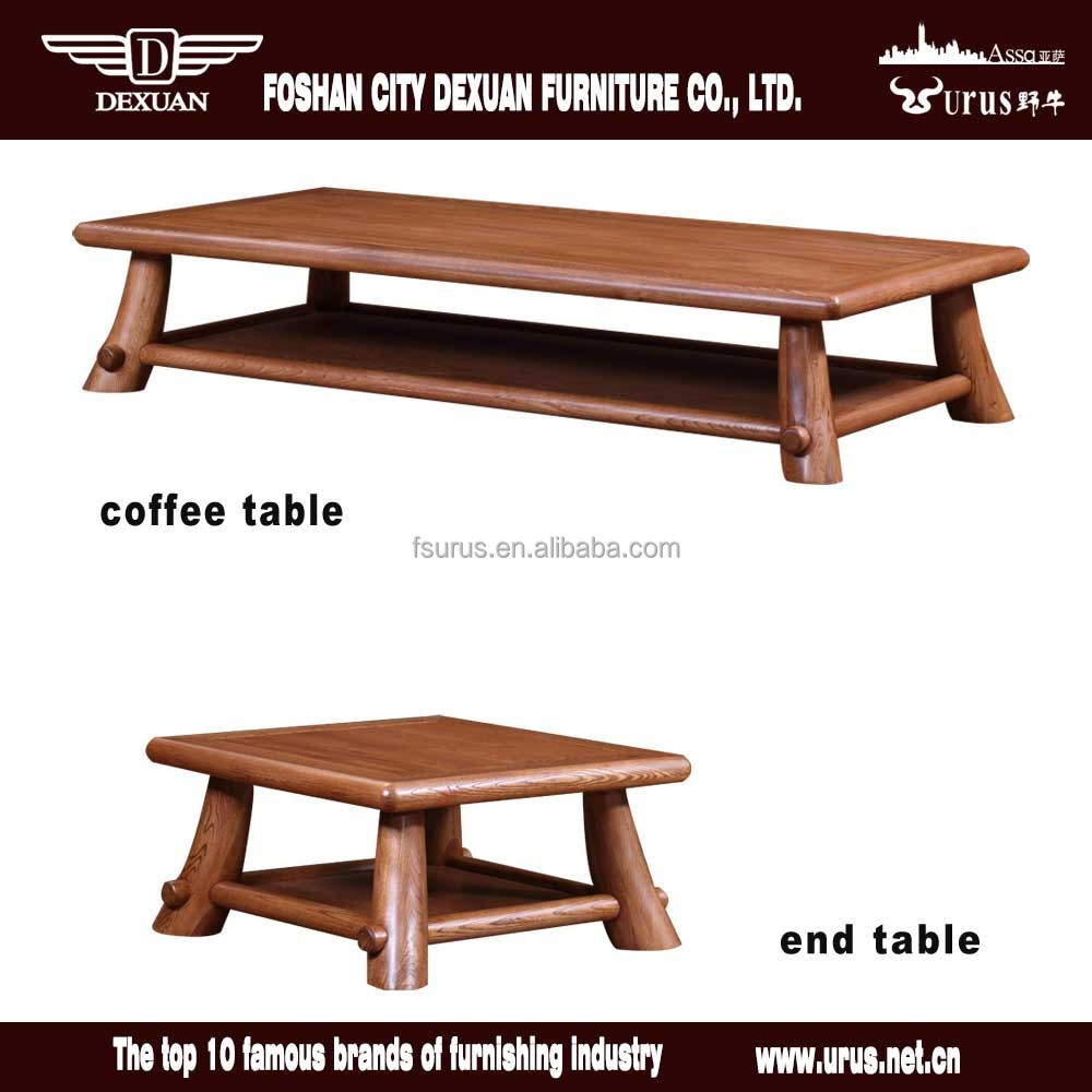 Wholesale Rustic Unique Wooden Coffee Table Set For Living
