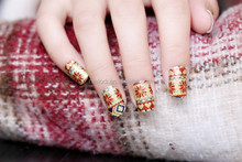 EXW price nail appliques, nail art foil adhesive