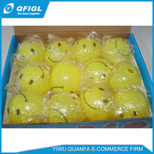 cute china wholesale smiling face led ball and smile pressure ball