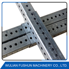 perforated square channel steel traffic posts