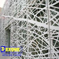 CNC decorative aluminum perforated wall panels /sun screen as curtain wall