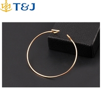 >>> Trendy Geometric Double Triangle Bangle Alloy Plated Gold Silver Classic Bangles Fashion Jewellery Design Opening Men Women/