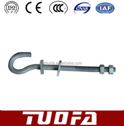 forged Pigtail Bolts/hook bolts/Electric Power Fittings/ fasteners/M16