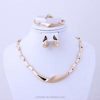 Dubai 18K Gold Plated Wedding Dress Vintage Necklace Set Fashion Wedding Women Party Jewelry Sets