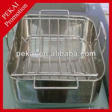 2015 new enamel roasting pan with lid