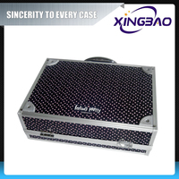 Aluminum good quality quilted cosmetic case black