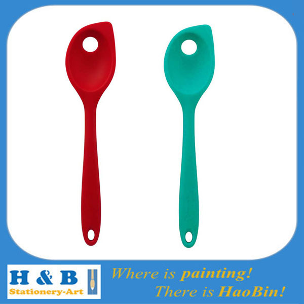 Silicone Kitchen Utensils Tool Blue red holes spoons.jpg