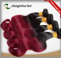 10 inch to 30 inch two tone color100% unprocessed human hair flip in hair extension