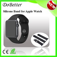 Top Selling Products in Alibaba 2015 New Released Fitness Soft Smooth Silicone Watch Band for Iwatch Sport Band 38mm 42mm