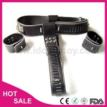 Leather or PVC steel chastity belt leather chastity permanent chastity belt