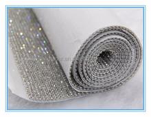 Aluminum rhinestone mesh,hot fix rhinestone mesh triming
