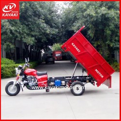 Low Cunsumption Water Cool Engine Auto Tricycle / Self Discharging Cargo Tricycle Hydraulic