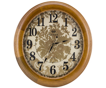Special design popular round ball office wood art wall clock JHF15-8118B