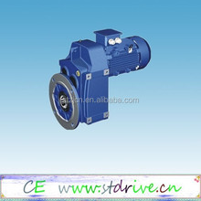 ST Drive Brand F37- F157 model helical solid shaft helical gear speed reducer
