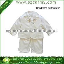 cool new design fashion kid's formal show white five sets suits/children business suit
