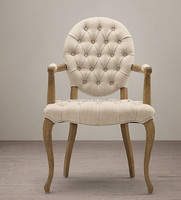 tufted armchair,louis french hand round back armchairs for sale,armchair style Louis xv/YJ-164
