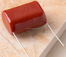 Quick delivery metallized film capacitor 102j 100v with free samples