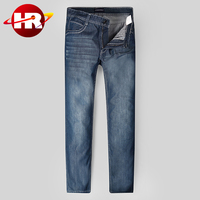 Guangzhou Denim Jeans Factory OEM European Brands New Men Jeans in classic looking to Wholesale
