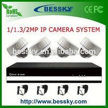 P2P onvif H.264 NVR kit 4CH 720P ip camera cctv system,onvif 2 megapixel dome ip camera cctv camera,network ip camera module