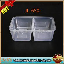 clear plastic food disposable container/large clear plastic container