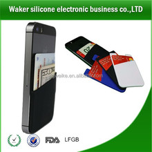 2015 Silicone cell phone wallet stores cards