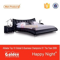 Trade Assurance supplier CIFF leather bed design furniture G1053