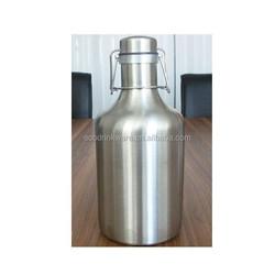 Single wall 2L spring cap for 375ml glass wine bottle