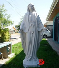 White marble virgin mary statue