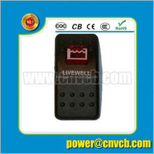 led light/12V 24V Marine rocker switch Carling Style/electric bost rocker switch with fuel pump 86 blank switch panel