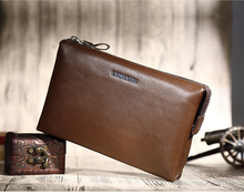 Multifuntion phone,card,coin wallets men's leather clutch bag