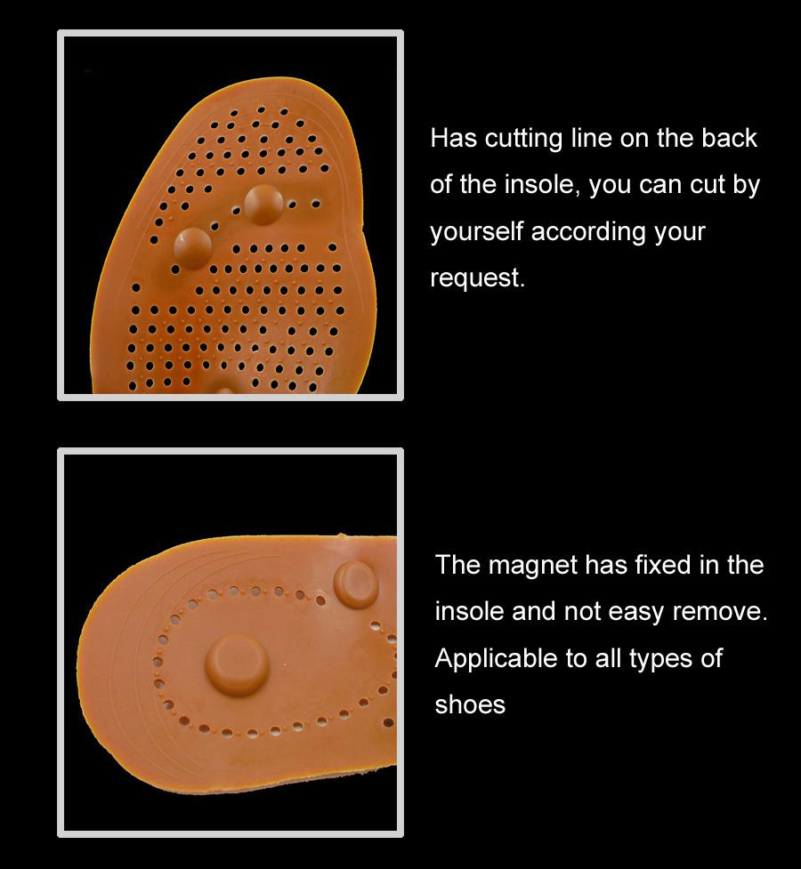Pie plantilla masaje con 8 imán magnético plantilla de calzado ...