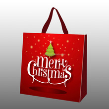 custom design eco non woven bag for christmas festival gifts