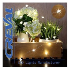 China Factory Custom Battery Operated Flower Led String Lights