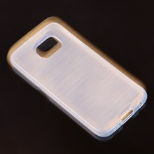 Soft transparent tpu case wire drawing clear case for Samsung galaxy S6