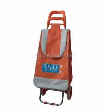 Supermarket Hand Push Plastic Shopping Cart, Foldable Shopping Bag wholesale