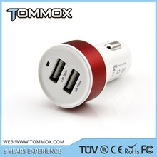 USB DC Car Charger 2.1A Adapter for Samsung Galaxy S5 Note2 3 Phone White