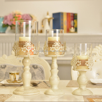 High quality cast iron candle stick holder