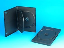 14MM DVD CASE FOR 3 DVDs WITH INSERT TRAY, BLACK(YD-037-A)