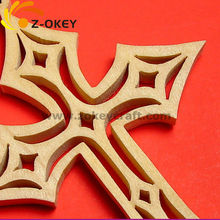 Laser cut wooden cross hanging pendant Yiwu hot sale