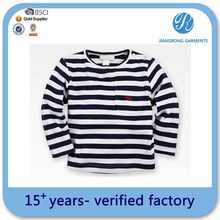 Boys Kids T-Shirts Design Kids 100% Organic Cotton T-Shirts Long Sleeve Black White Striped T-Shirts